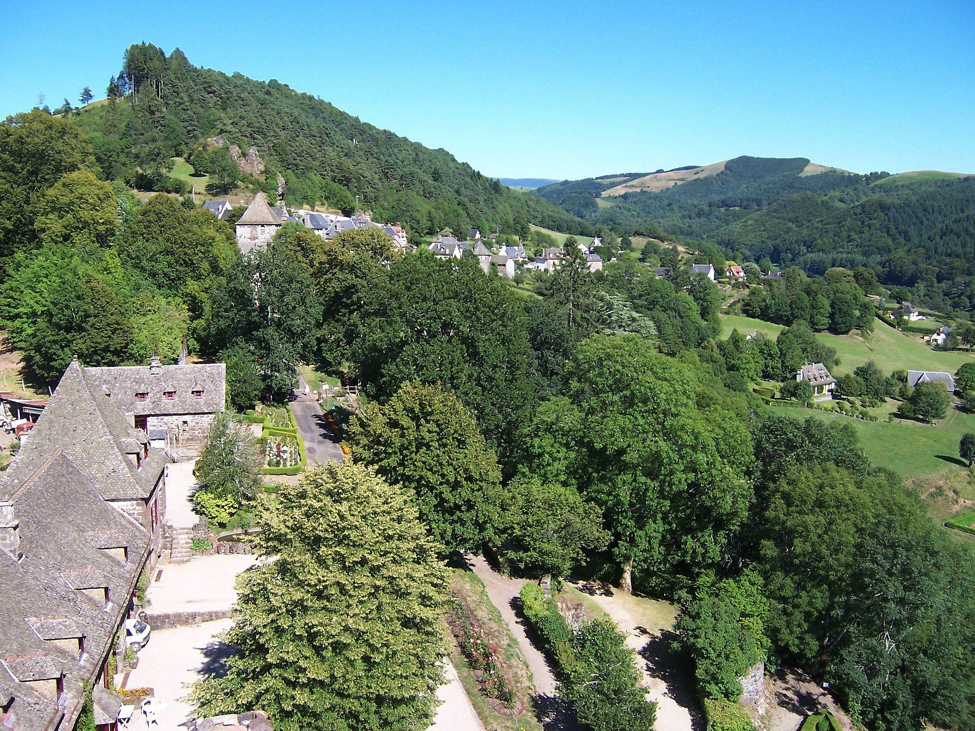 Tournemire vu du château d'Anjony