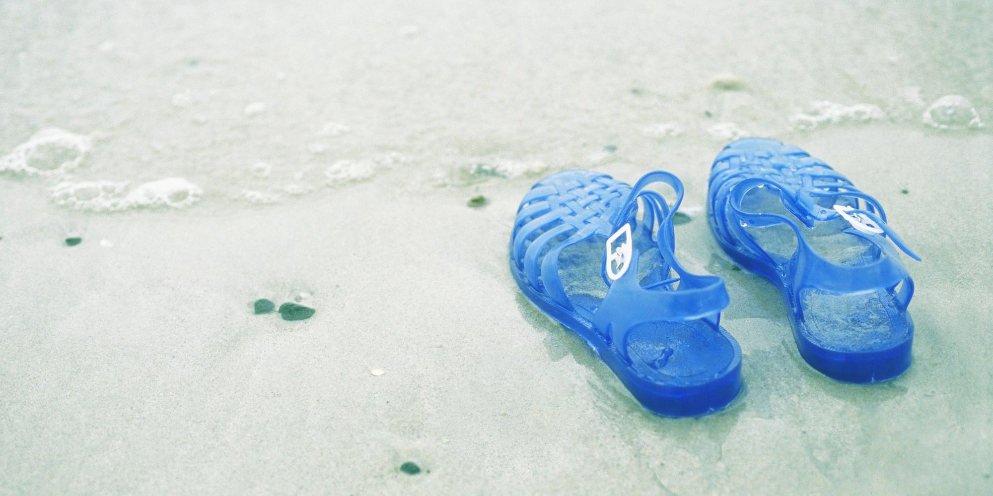 Des méduses sur une plage