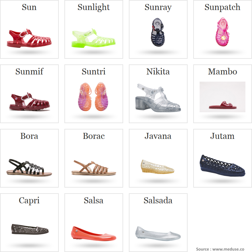"""Sandales """"méduse"""""""