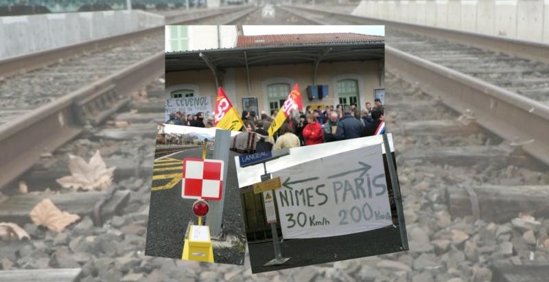 Manifestation à Langeac