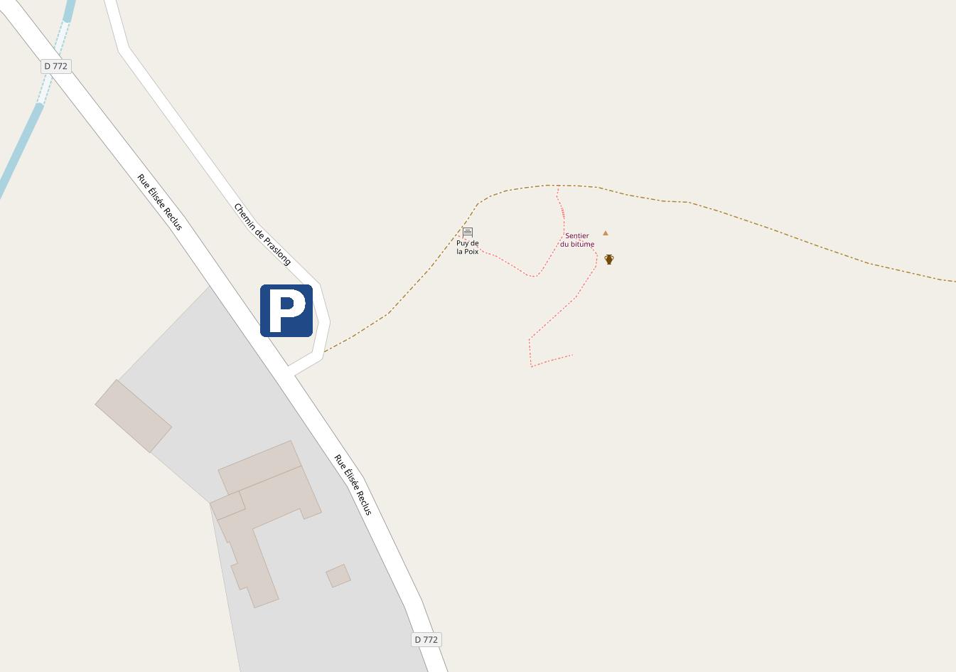 Accès au Puy de la Poix - Plan détaillé